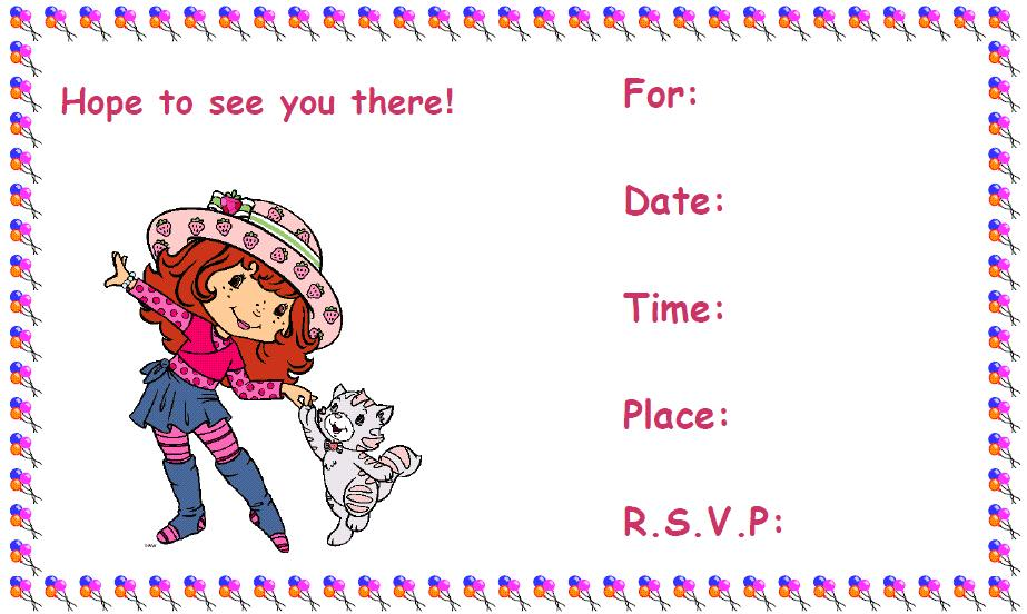 Party invitations for kids | Bishops Corner Web